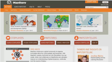 Screen shot of the YouTube video explaining MapStory project
